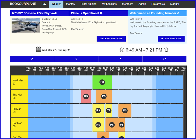 Book Our Plane Online Scheduling Application