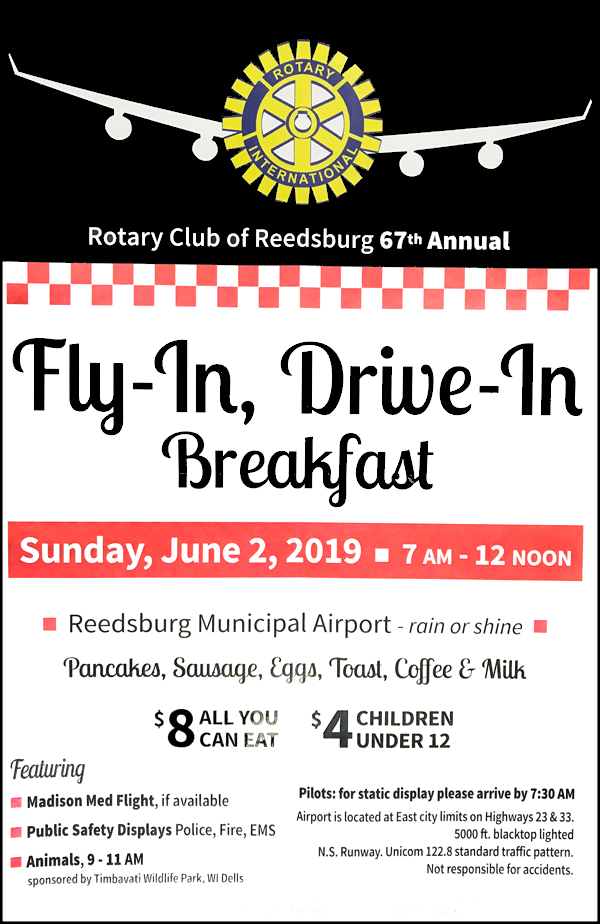 Reedsburg Rotary Pancake Breakfast 2019